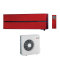 Mitsubishi Electric Kirigamine Style 5.0 kW rubin crveni